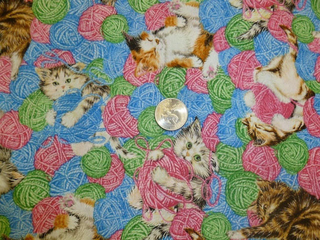 Kittens and Yarn fabric for custom bags Zoe's Bag Boutique