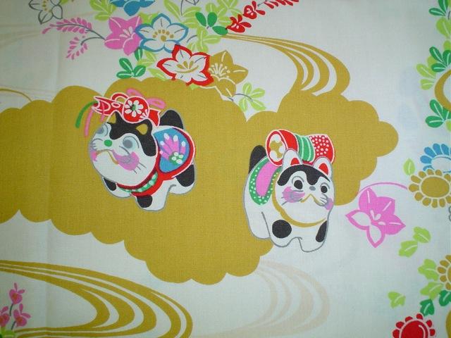 Komainu fabric for custom bags Zoe's Bag Boutique