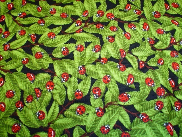 Ladybugs fabric for custom bags Zoe's Bag Boutique