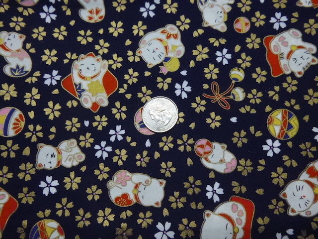Maneki-neko fabric for custom bags Zoe's Bag Boutique