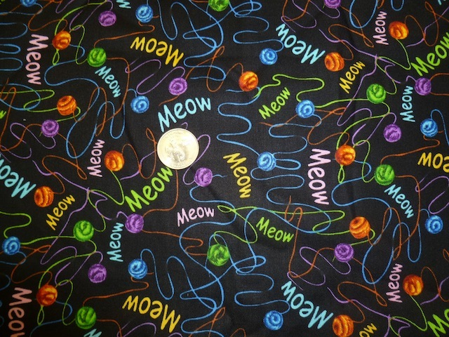 Meow yarn fabric for custom knitting crochet bags by Zoe's Bag Boutique