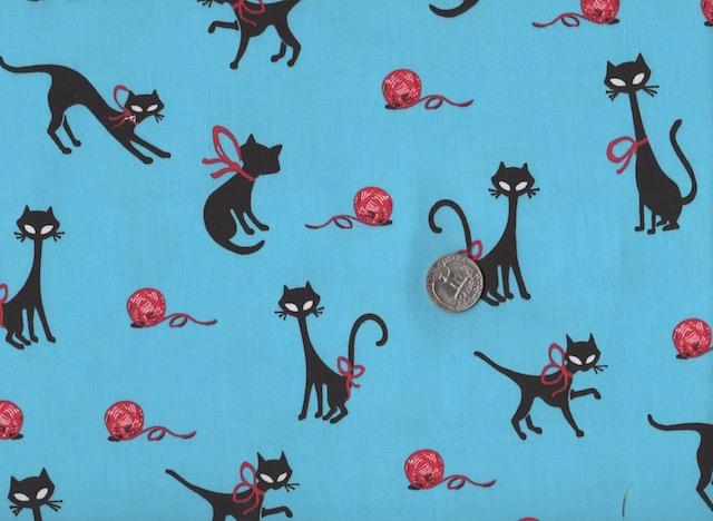 Cat fabrics for custom made bags at Zoe's Bag Boutique