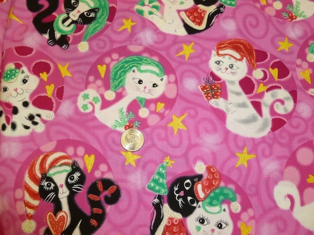 Retro mod cats Christmas fabric for custom bags Zoe's Bag Boutique
