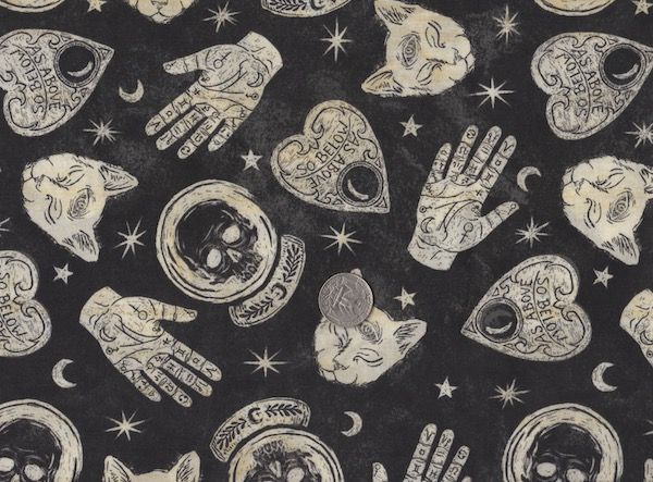 Halloween and Spooky fabrics for custom bags at Zoe's Bag Boutique