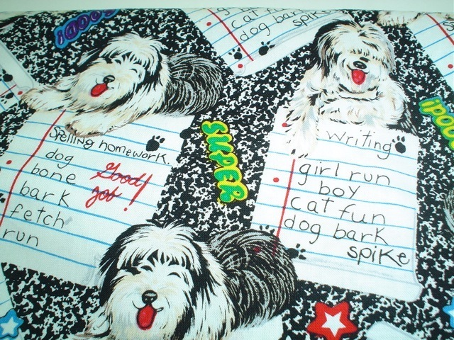 Old English Sheepdog fabric for custom bags Zoe's Bag Boutique