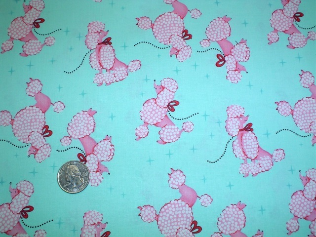 Poodles fabric for custom bags Zoe's Bag Boutique