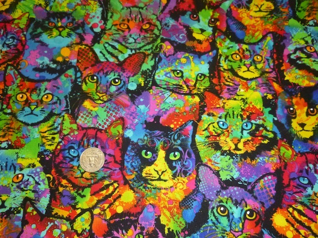 Painted Cats fabric for custom bags Zoe's Bag Boutique