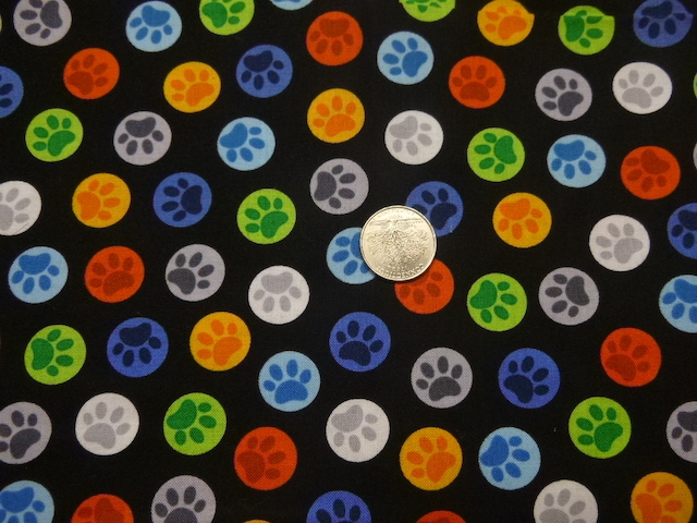 Dog paw prints fabric for custom bags Zoe's Bag Boutique
