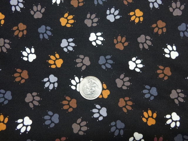 Paw prints fabric for custom bags Zoe's Bag Boutique