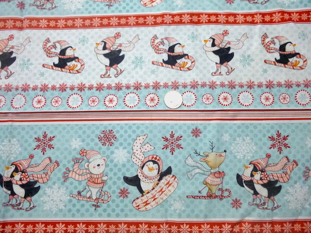 Cute penguins and bears Christmas fabric for custom bags Zoe's Bag Boutique