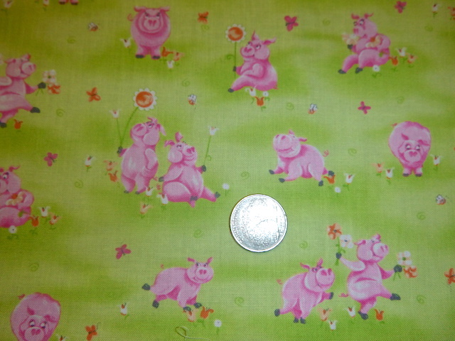 Cute pigs fabric for custom bags Zoe's Bag Boutique