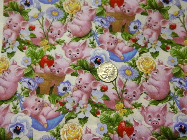 Piglets fabric for custom bags Zoe's Bag Boutique