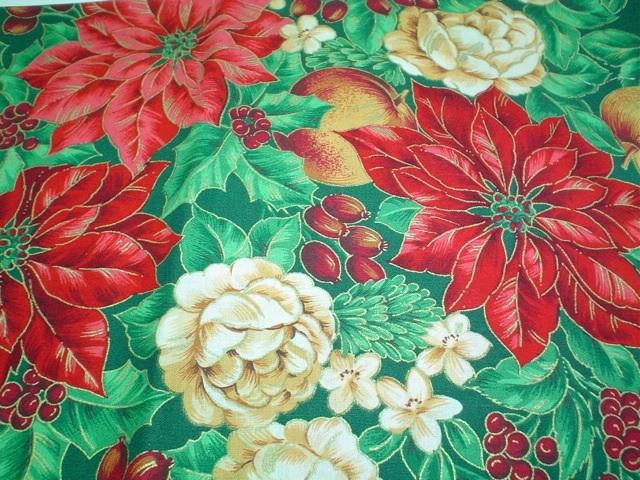 Poinsettias fabric for custom bags Zoe's Bag Boutique