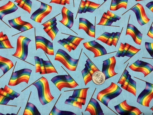 Pride flags fabric for custom bags Zoe's Bag Boutique