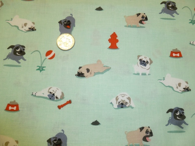 Pugs and Kisses fabric for custom bags Zoe's Bag Boutique