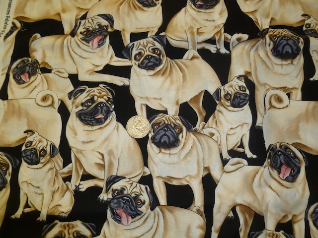 Pugs fabric for custom bags Zoe's Bag Boutique
