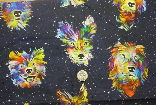 Rainbow dogs fabric for custom bags Zoe's Bag Boutique