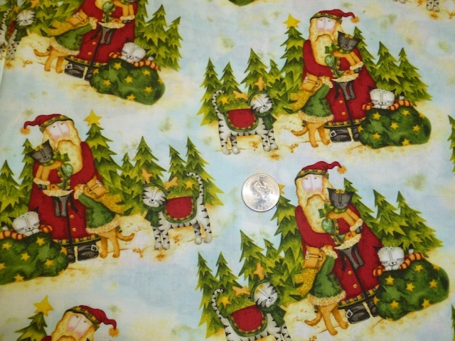 Santa's cats fabric for custom bags Zoe's Bag Boutique