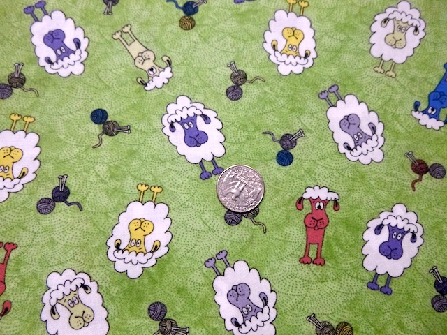 Sheep fabric for custom knitting crochet bags by Zoe's Bag Boutique'