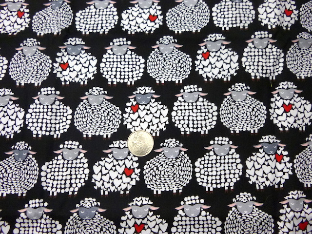 Sheep fabric for custom knitting crochet bags by Zoe's Bag Boutique