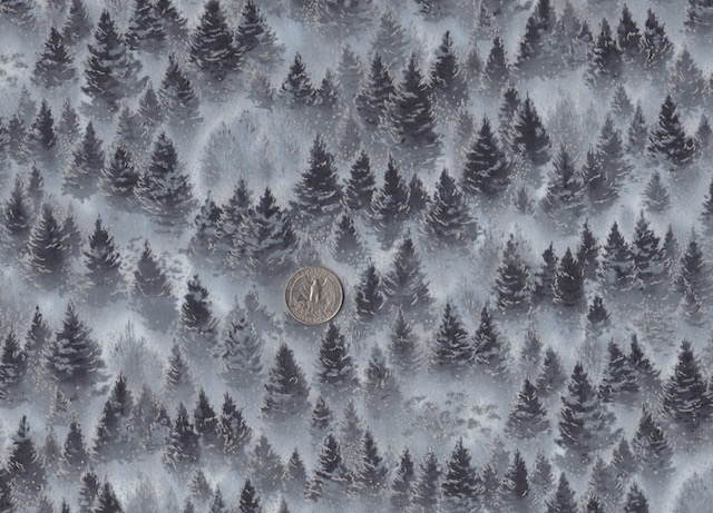 Winter trees fabric for custom made bags at Zoe's Bag Boutique