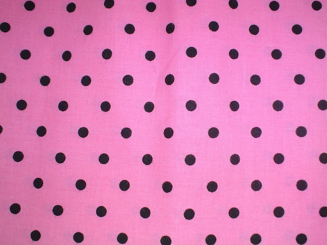 Black and pink polka dots fabric for custom bags Zoe's Bag Boutique