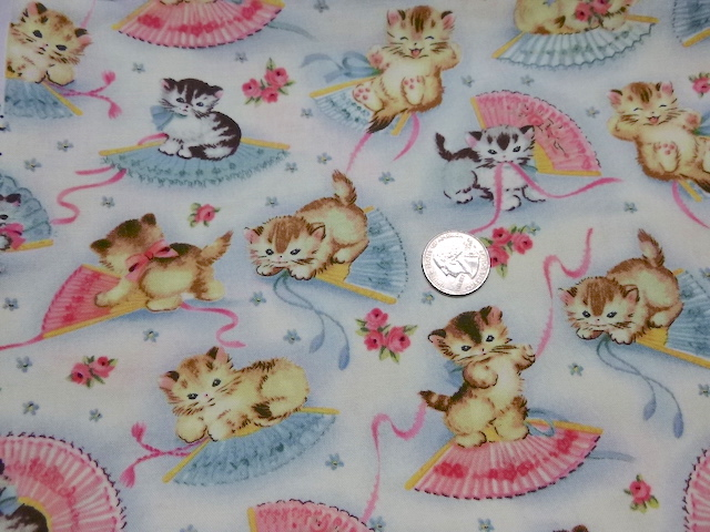 Retro kittens fabric for custom bags Zoe's Bag Boutique