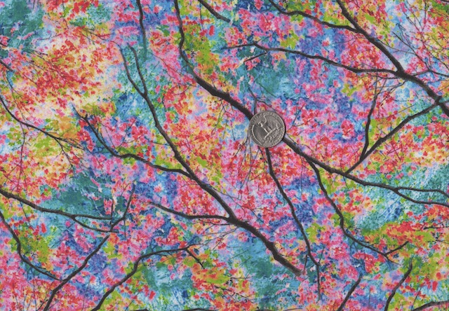 Spring trees fabric for custom bags at Zoe's Bag Boutique