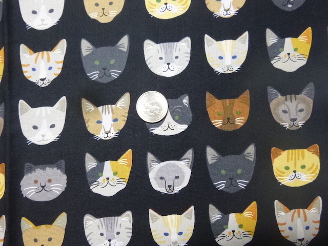 Cat facves fabric for custom bags Zoe's Bag Boutique