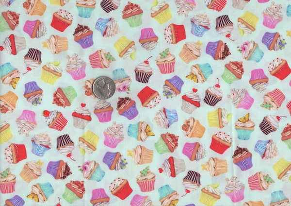 Cupcakes fabric for custom bags at Zoe's Bag Boutique