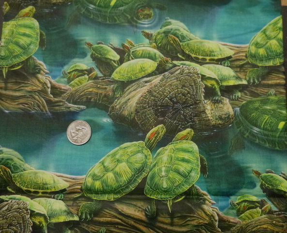 Turtles fabric for custom bags Zoe's Bag Boutique
