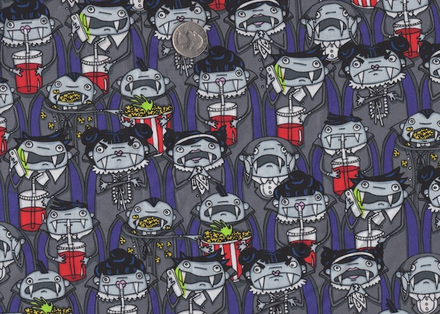 Vampires at the movies fabric for custom bags at Zoe's Bag Boutique