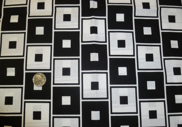 Black white retro squares fabric for custom bags Zoe's Bag Boutique