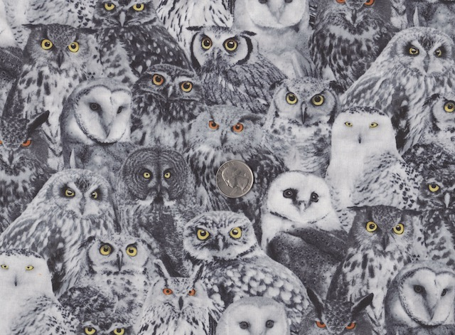 Owls fabric for custom bags at Zoe's Bag Boutique