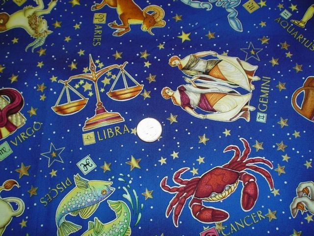Zodiac signs fabric for custom bags Zoe's Bag Boutique