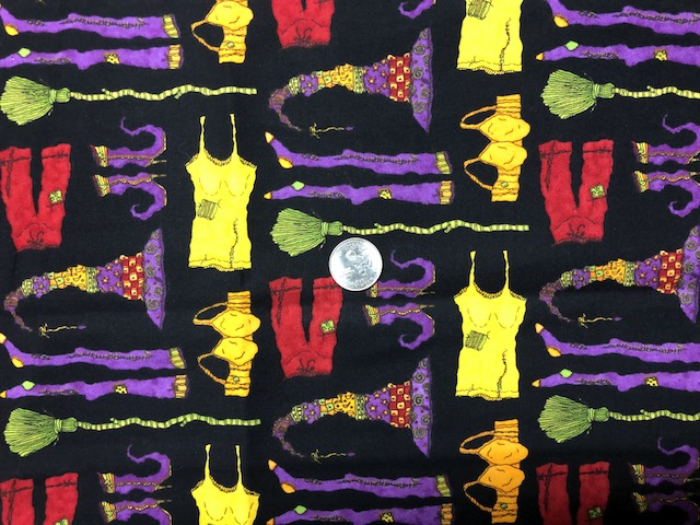 Witches undies fabric for custom made bags at Zoe's Bag Boutique