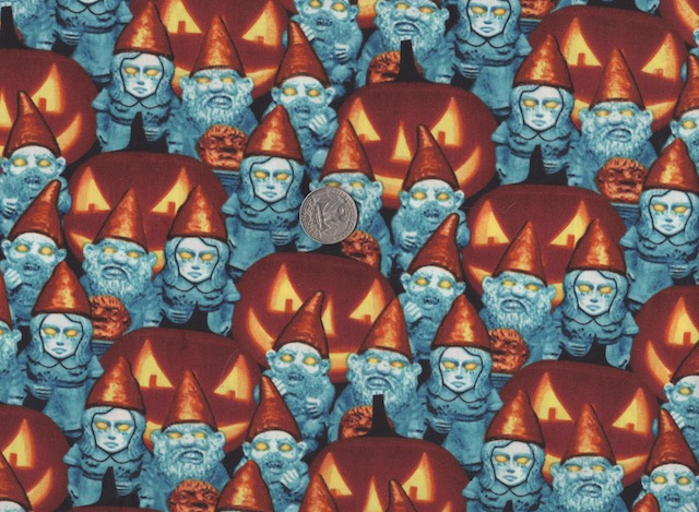 Zombie Gnomes fabric for custom bags at Zoe's Bag Boutique