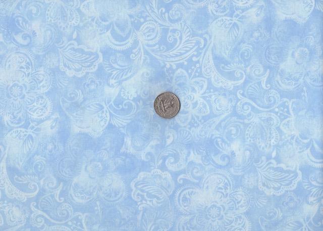 Light blue batik fabric for custom bags at Zoe's Bag Boutique