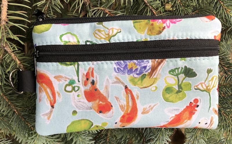Summer koi mini wallet